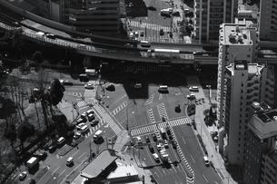 東京タワーから見た東京の町並みの写真素材 [FYI02979610]