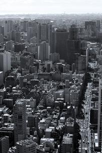 東京タワーから見た東京の町並みの写真素材 [FYI02979611]