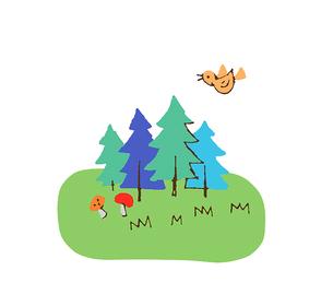 森のイラスト素材 [FYI02979630]