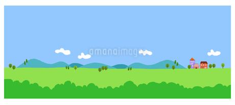 空と野山のイラスト素材 [FYI02979635]