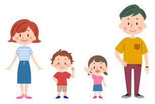 夏服の家族(全身)のイラスト素材 [FYI02979715]