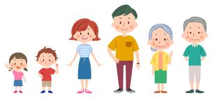 夏服の家族(全身)のイラスト素材 [FYI02979718]