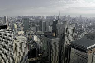 高層ビルが立ち並ぶ東京の町並みの写真素材 [FYI02980063]