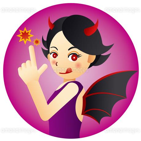 可愛い悪魔の女の子のイラスト素材 [FYI02980098]