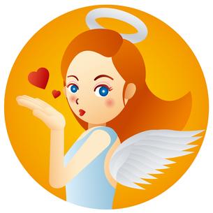 可愛い天使の女の子のイラスト素材 [FYI02980101]