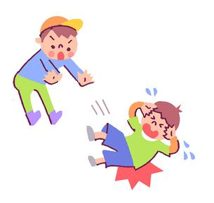 喧嘩をする子どものイラスト素材 [FYI02980316]