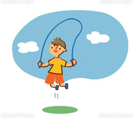 縄跳びをする男の子のイラスト素材 [FYI02980318]
