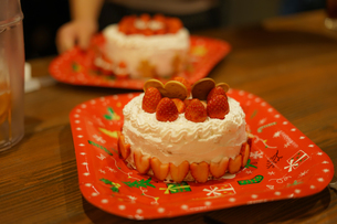 クリスマスケーキのイメージの写真素材 [FYI02980398]