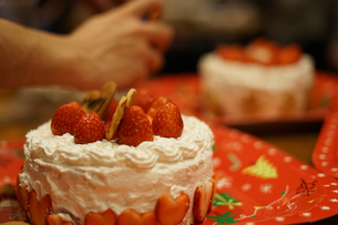 クリスマスケーキのイメージの写真素材 [FYI02980405]