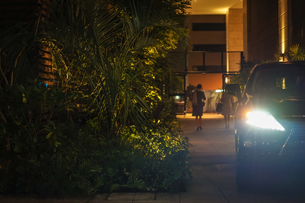 車のヘッドライトの写真素材 [FYI02980453]