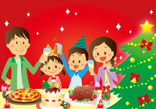 クリスマスパーティのイラスト素材 [FYI02980627]