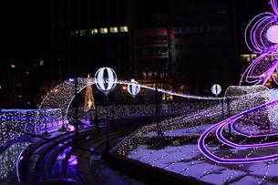 札幌市 大通公園、イルミネーションの風景 の写真素材 [FYI02980726]