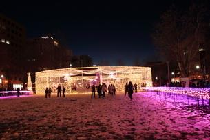 札幌市 大通公園、第38回イルミネーションの美しい風景 の写真素材 [FYI02980738]