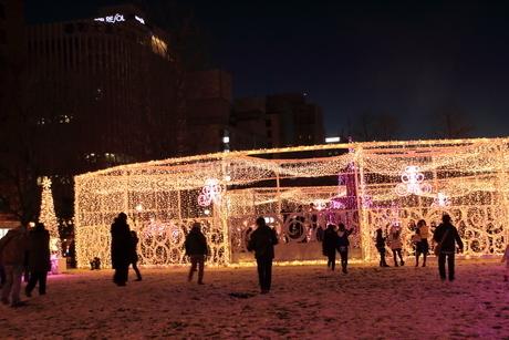 札幌市 大通公園、第38回イルミネーションの美しい風景 の写真素材 [FYI02980746]