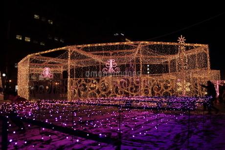 札幌市 大通公園、第38回イルミネーションの美しい風景 の写真素材 [FYI02980761]