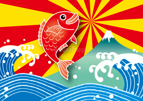 大漁旗のイラスト素材 [FYI02980791]
