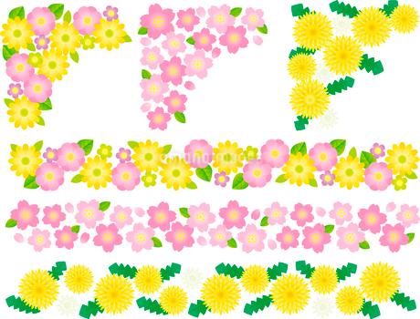 飾り罫(フレーム)春のイラスト素材 [FYI02980792]