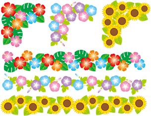 飾り罫(フレーム)夏のイラスト素材 [FYI02980793]
