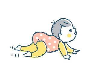 ハイハイする赤ちゃん2 ピンクのイラスト素材 [FYI02980823]