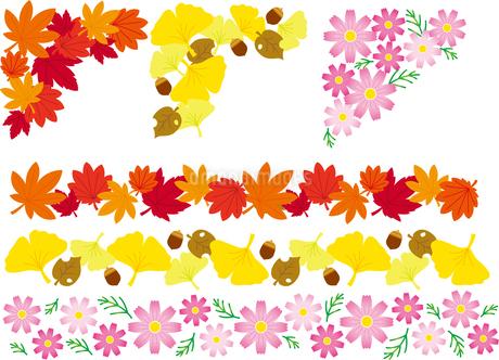 飾り罫(フレーム)秋のイラスト素材 [FYI02980852]