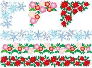 飾り罫(フレーム)冬のイラスト素材 [FYI02980853]