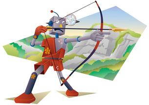 弓を射るロボットのイラスト素材 [FYI02980908]