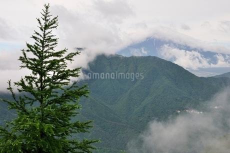 雲被る富士山の写真素材 [FYI02981116]