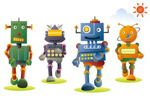 ジョギングするロボット達。のイラスト素材 [FYI02981197]