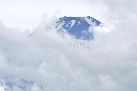雲被る富士山の写真素材 [FYI02981274]