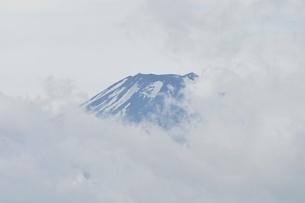 雲被る富士山の写真素材 [FYI02981275]