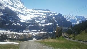 スイス ユングフラウ地方 クライネシャイディック~ヴェンゲンアルプ ハイキングコース 19の写真素材 [FYI02981304]
