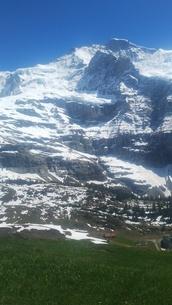 スイス ユングフラウ地方 クライネシャイディック~ヴェンゲンアルプ ハイキングコース 21の写真素材 [FYI02981308]