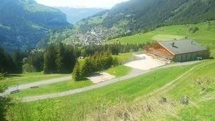 スイス ユングフラウ地方 ヴェンゲンアルプ~ウェンゲン 2の写真素材 [FYI02981321]
