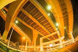 首都高速湾岸線・大黒ジャンクション(横浜市鶴見区)の写真素材 [FYI02981336]