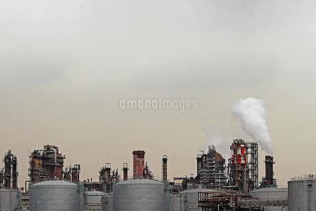 京浜工業地帯の川崎にある石油精製プラントの風景の写真素材 [FYI02981743]