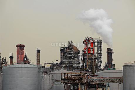 京浜工業地帯の川崎にある石油精製プラントの風景の写真素材 [FYI02981744]