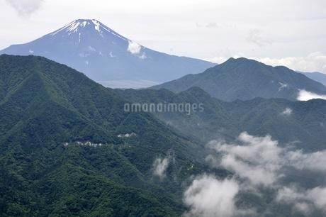 今倉山 松山から望む富士山の写真素材 [FYI02981786]