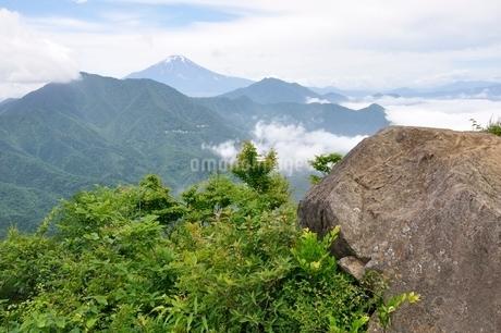 今倉山 松山から望む富士山の写真素材 [FYI02981787]