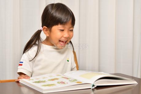 読書する女の子の写真素材 [FYI02981790]
