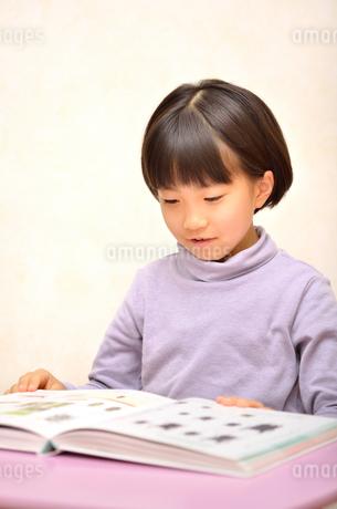 読書する女の子の写真素材 [FYI02981811]