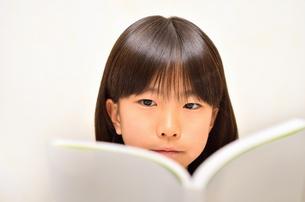 読書する女の子の写真素材 [FYI02981822]