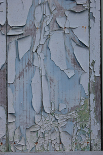 劣化して塗面が剥がれた扉の写真素材 [FYI02981839]