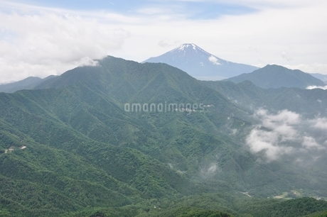 今倉山 松山から望む富士山の写真素材 [FYI02981846]