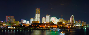 横浜夜景(パノラマ)の写真素材 [FYI02981929]