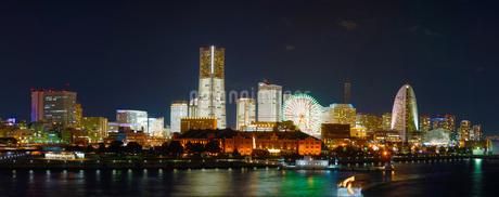 横浜夜景(パノラマ)の写真素材 [FYI02981966]