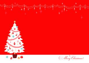 白いクリスマスツリー3のイラスト素材 [FYI02982009]