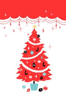 赤いクリスマスツリー2のイラスト素材 [FYI02982015]