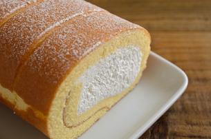 ロールケーキの写真素材 [FYI02982192]