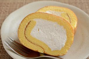 ロールケーキの写真素材 [FYI02982194]