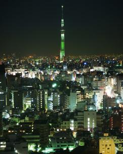 スカイツリーと東京の街並み2の写真素材 [FYI02982450]